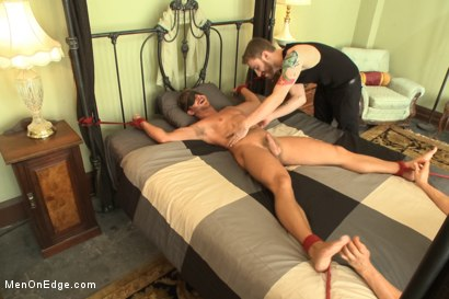 Photo number 7 from Bushy Blond Pubic Hair shot for Men On Edge on Kink.com. Featuring Logan Vaughn in hardcore BDSM & Fetish porn.