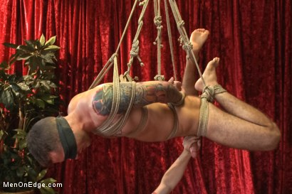 Photo number 11 from Straight stud endures relentless edging, tight bondage and tickle torment shot for Men On Edge on Kink.com. Featuring Atticus in hardcore BDSM & Fetish porn.