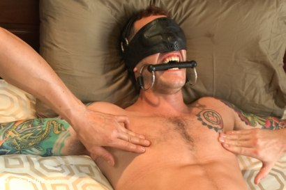 Photo number 14 from Straight stud endures relentless edging, tight bondage and tickle torment shot for Men On Edge on Kink.com. Featuring Atticus in hardcore BDSM & Fetish porn.