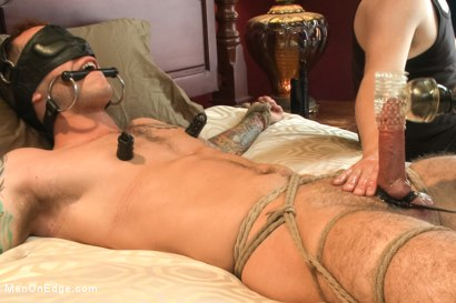 Photo number 12 from Straight stud endures relentless edging, tight bondage and tickle torment shot for Men On Edge on Kink.com. Featuring Atticus in hardcore BDSM & Fetish porn.