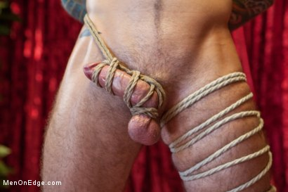 Photo number 10 from Straight stud endures relentless edging, tight bondage and tickle torment shot for Men On Edge on Kink.com. Featuring Atticus in hardcore BDSM & Fetish porn.