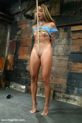 Photo number 3 from Keeani Lei shot for Hogtied on Kink.com. Featuring Keeani Lei in hardcore BDSM & Fetish porn.