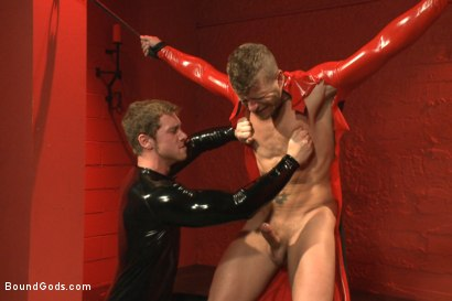 Photo number 3 from Infiltrating A Redz Lair  shot for Bound Gods on Kink.com. Featuring Jeremy Stevens and Connor Maguire in hardcore BDSM & Fetish porn.