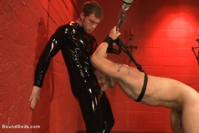 Photo number 7 from Infiltrating A Redz Lair  shot for Bound Gods on Kink.com. Featuring Jeremy Stevens and Connor Maguire in hardcore BDSM & Fetish porn.