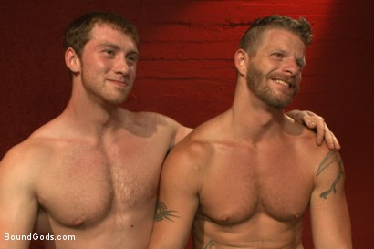 Photo number 15 from Infiltrating A Redz Lair  shot for Bound Gods on Kink.com. Featuring Jeremy Stevens and Connor Maguire in hardcore BDSM & Fetish porn.