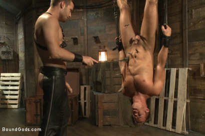 Photo number 11 from Horny Dockworkers and The Bondage Shipment shot for Bound Gods on Kink.com. Featuring Connor Patricks and Hayden Richards in hardcore BDSM & Fetish porn.