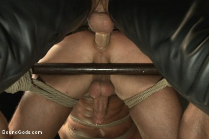 Photo number 14 from Horny Dockworkers and The Bondage Shipment shot for Bound Gods on Kink.com. Featuring Connor Patricks and Hayden Richards in hardcore BDSM & Fetish porn.