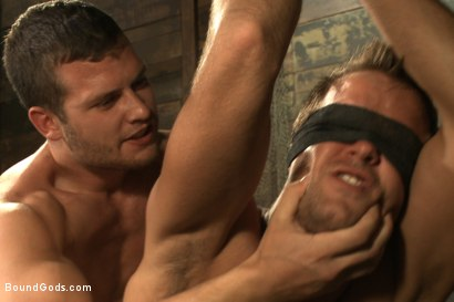 Photo number 7 from Horny Dockworkers and The Bondage Shipment shot for Bound Gods on Kink.com. Featuring Connor Patricks and Hayden Richards in hardcore BDSM & Fetish porn.