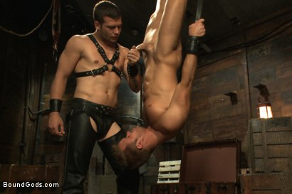 Photo number 8 from Horny Dockworkers and The Bondage Shipment shot for Bound Gods on Kink.com. Featuring Connor Patricks and Hayden Richards in hardcore BDSM & Fetish porn.