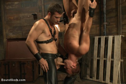 Photo number 12 from Horny Dockworkers and The Bondage Shipment shot for Bound Gods on Kink.com. Featuring Connor Patricks and Hayden Richards in hardcore BDSM & Fetish porn.