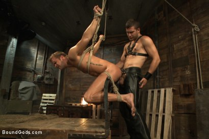 Photo number 13 from Horny Dockworkers and The Bondage Shipment shot for Bound Gods on Kink.com. Featuring Connor Patricks and Hayden Richards in hardcore BDSM & Fetish porn.
