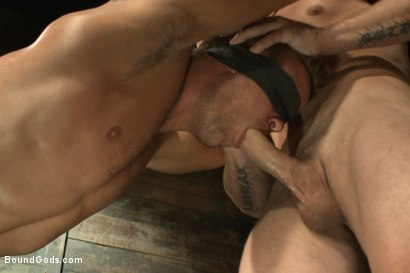 Photo number 4 from Horny Dockworkers and The Bondage Shipment shot for Bound Gods on Kink.com. Featuring Connor Patricks and Hayden Richards in hardcore BDSM & Fetish porn.