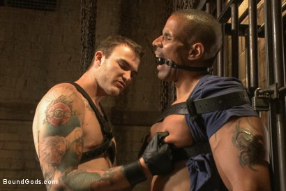 Photo number 1 from Christian Wilde beats, torments, and fucks his body builder captive shot for Bound Gods on Kink.com. Featuring Christian Wilde and Robert Axel in hardcore BDSM & Fetish porn.