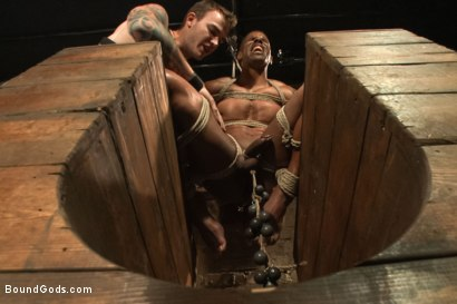 Photo number 8 from Christian Wilde beats, torments, and fucks his body builder captive shot for Bound Gods on Kink.com. Featuring Christian Wilde and Robert Axel in hardcore BDSM & Fetish porn.