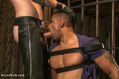 Photo number 3 from Christian Wilde beats, torments, and fucks his body builder captive shot for Bound Gods on Kink.com. Featuring Christian Wilde and Robert Axel in hardcore BDSM & Fetish porn.