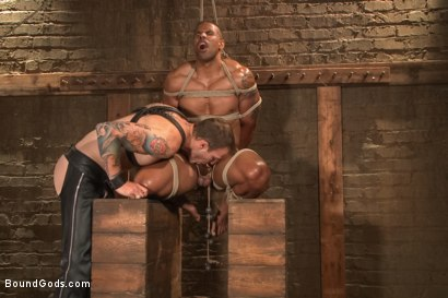 Photo number 7 from Christian Wilde beats, torments, and fucks his body builder captive shot for Bound Gods on Kink.com. Featuring Christian Wilde and Robert Axel in hardcore BDSM & Fetish porn.