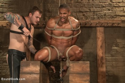 Photo number 9 from Christian Wilde beats, torments, and fucks his body builder captive shot for Bound Gods on Kink.com. Featuring Christian Wilde and Robert Axel in hardcore BDSM & Fetish porn.