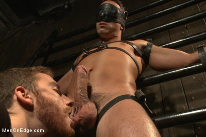 Photo number 2 from Ripped straight hunk with a fat uncut cock bound for the first time. shot for Men On Edge on Kink.com. Featuring Andrew Fitch in hardcore BDSM & Fetish porn.
