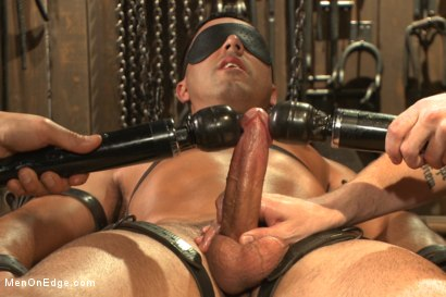 Photo number 12 from Ripped straight hunk with a fat uncut cock bound for the first time. shot for Men On Edge on Kink.com. Featuring Andrew Fitch in hardcore BDSM & Fetish porn.