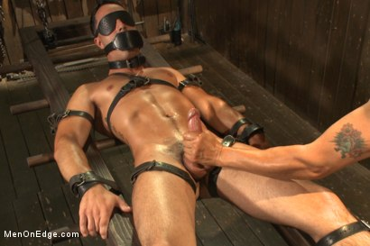 Photo number 13 from Ripped straight hunk with a fat uncut cock bound for the first time. shot for Men On Edge on Kink.com. Featuring Andrew Fitch in hardcore BDSM & Fetish porn.