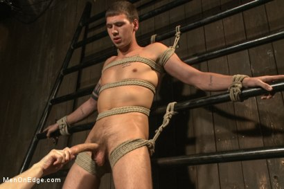 Photo number 3 from 9 inch Cock Edged in Metal Bondage shot for Men On Edge on Kink.com. Featuring Jay Cloud in hardcore BDSM & Fetish porn.