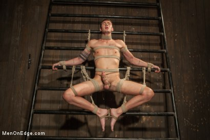 Photo number 5 from 9 inch Cock Edged in Metal Bondage shot for Men On Edge on Kink.com. Featuring Jay Cloud in hardcore BDSM & Fetish porn.
