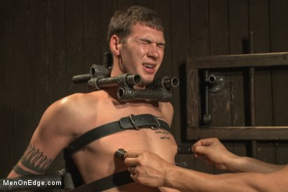 Photo number 9 from 9 inch Cock Edged in Metal Bondage shot for Men On Edge on Kink.com. Featuring Jay Cloud in hardcore BDSM & Fetish porn.