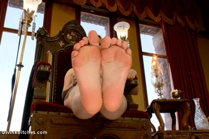 Photo number 1 from FemDom Foot Fetish POV shot for Divine Bitches on Kink.com. Featuring Aiden Starr in hardcore BDSM & Fetish porn.