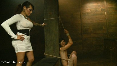 Photo number 2 from The New Gaping Hole: When Your Model Application Becomes Reality shot for TS Seduction on Kink.com. Featuring Tony Orlando and TS Foxxy in hardcore BDSM & Fetish porn.