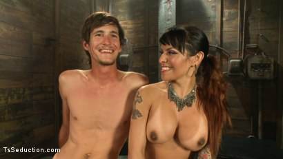 Photo number 15 from The New Gaping Hole: When Your Model Application Becomes Reality shot for TS Seduction on Kink.com. Featuring Tony Orlando and TS Foxxy in hardcore BDSM & Fetish porn.