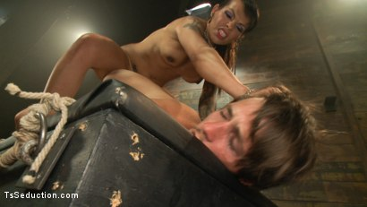 Photo number 10 from The New Gaping Hole: When Your Model Application Becomes Reality shot for TS Seduction on Kink.com. Featuring Tony Orlando and TS Foxxy in hardcore BDSM & Fetish porn.