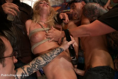 Photo number 6 from Beautiful Petite Blonde Tied-Up and Fisted in Public shot for Public Disgrace on Kink.com. Featuring Lorelei Lee, Allie James and Astral Dust in hardcore BDSM & Fetish porn.