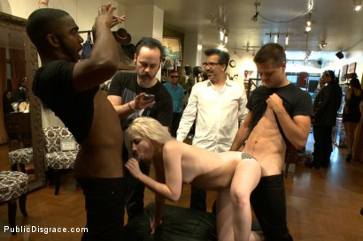 Photo number 12 from Slender Blonde gets Tied up and Fucked in Public shot for Public Disgrace on Kink.com. Featuring Ranie Mae and John Johnson in hardcore BDSM & Fetish porn.