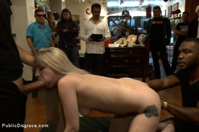 Photo number 13 from Slender Blonde gets Tied up and Fucked in Public shot for Public Disgrace on Kink.com. Featuring Ranie Mae and John Johnson in hardcore BDSM & Fetish porn.
