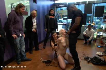 Photo number 2 from Slender Blonde gets Tied up and Fucked in Public shot for Public Disgrace on Kink.com. Featuring Ranie Mae and John Johnson in hardcore BDSM & Fetish porn.