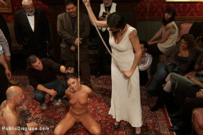 Photo number 14 from 21 yr old Hottie Submits to Hard Fucking and Humiliation shot for Public Disgrace on Kink.com. Featuring Adriana Chechik and Astral Dust in hardcore BDSM & Fetish porn.