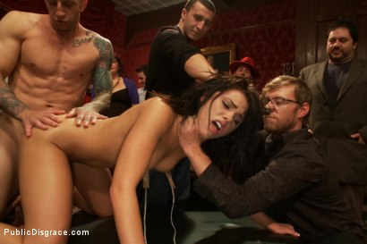Photo number 9 from 21 yr old Hottie Submits to Hard Fucking and Humiliation shot for Public Disgrace on Kink.com. Featuring Adriana Chechik and Astral Dust in hardcore BDSM & Fetish porn.