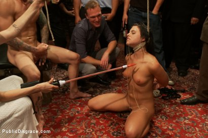 Photo number 12 from 21 yr old Hottie Submits to Hard Fucking and Humiliation shot for Public Disgrace on Kink.com. Featuring Adriana Chechik and Astral Dust in hardcore BDSM & Fetish porn.