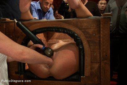 Photo number 1 from 21 yr old Hottie Submits to Hard Fucking and Humiliation shot for Public Disgrace on Kink.com. Featuring Adriana Chechik and Astral Dust in hardcore BDSM & Fetish porn.