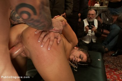 Photo number 7 from 21 yr old Hottie Submits to Hard Fucking and Humiliation shot for Public Disgrace on Kink.com. Featuring Adriana Chechik and Astral Dust in hardcore BDSM & Fetish porn.