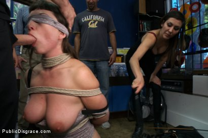 Photo number 2 from Pro Domme Submits for the First Time - In Public! shot for Public Disgrace on Kink.com. Featuring Terra Incognita and Tommy Pistol in hardcore BDSM & Fetish porn.