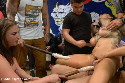 Photo number 9 from Big Titted Reality TV Star Ass Fucked in Public! shot for Public Disgrace on Kink.com. Featuring Cameron Bay , Xander Corvus and Lorelei Lee in hardcore BDSM & Fetish porn.