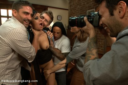 Photo number 3 from I'm Your Biggest Fan: Paparazzi Gangbang  shot for Hardcore Gangbang on Kink.com. Featuring Danny Wylde, Tommy Pistol, Owen Gray, Astral Dust, Toni Ribas and Beretta James in hardcore BDSM & Fetish porn.