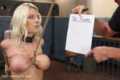 The training of a big tit bleach blonde porn star day one