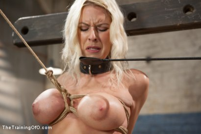 Photo number 7 from The Training of a Big Tit, Bleach Blonde Porn Star, Day One shot for The Training Of O on Kink.com. Featuring Riley Evans in hardcore BDSM & Fetish porn.
