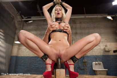 Photo number 12 from The Training of a Big Tit, Bleach Blonde Porn Star, Day One shot for The Training Of O on Kink.com. Featuring Riley Evans in hardcore BDSM & Fetish porn.