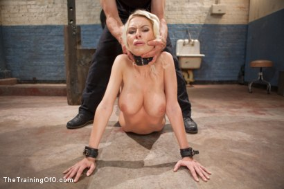 Photo number 15 from The Training of a Big Tit, Bleach Blonde Porn Star, Day One shot for The Training Of O on Kink.com. Featuring Riley Evans in hardcore BDSM & Fetish porn.