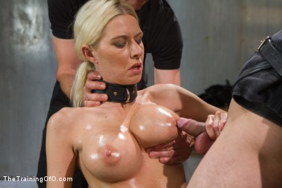 Photo number 8 from The Dismissal of a Big Tit, Bleach Blonde Porn Star shot for The Training Of O on Kink.com. Featuring Riley Evans and Johnny Ruiz in hardcore BDSM & Fetish porn.