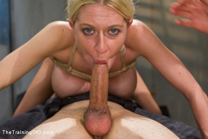Photo number 13 from The Dismissal of a Big Tit, Bleach Blonde Porn Star shot for The Training Of O on Kink.com. Featuring Riley Evans and Johnny Ruiz in hardcore BDSM & Fetish porn.