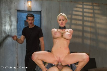 Photo number 11 from The Dismissal of a Big Tit, Bleach Blonde Porn Star shot for The Training Of O on Kink.com. Featuring Riley Evans and Johnny Ruiz in hardcore BDSM & Fetish porn.